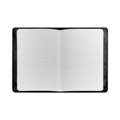 Cool Black Color Accent Custom NoteBook A5