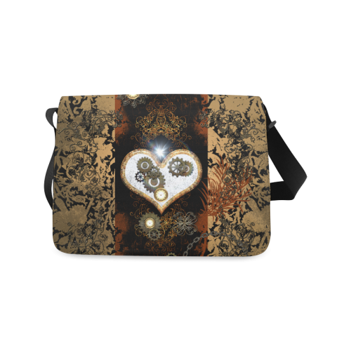 Steampunk, wonderful heart, clocks and gears Messenger Bag (Model 1628)