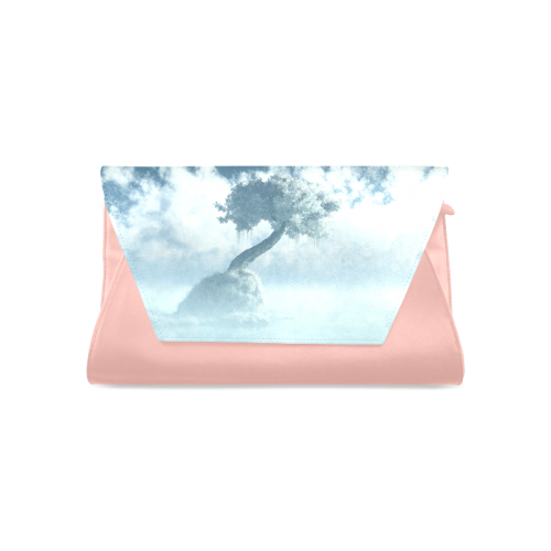 Frozen Tree at the lake Clutch Bag (Model 1630)