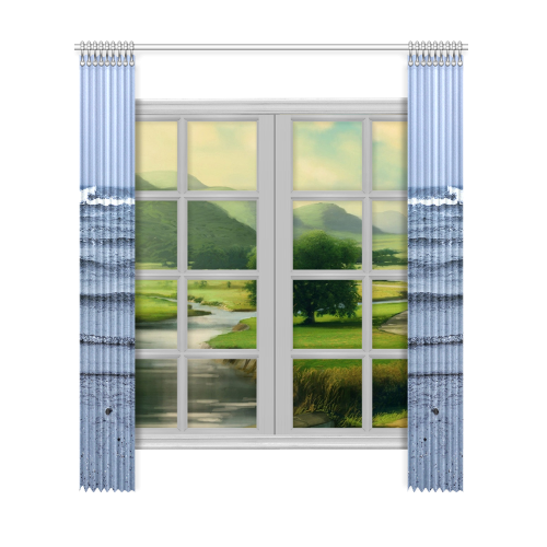 "Stairway to the Sea Window Curtain 52""x120""(Two Piece)"