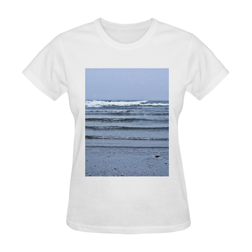 Stairway to the Sea Sunny Women's T-shirt (Model T05)