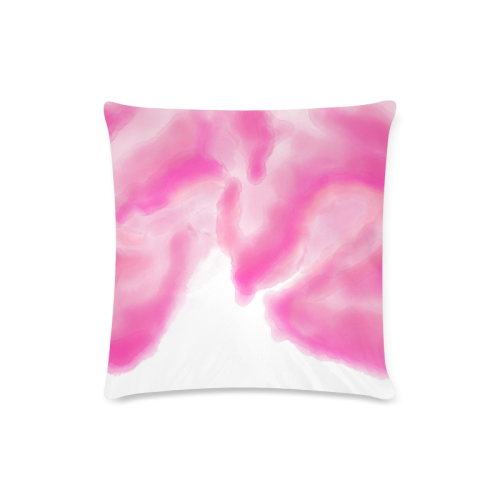 "pink watercolor abstract art Custom Zippered Pillow Case 16""x16""(Twin Sides)"