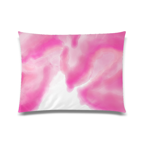 """pink watercolor abstract art Custom Zippered Pillow Case 20""""x26""""(Twin Sides)"""