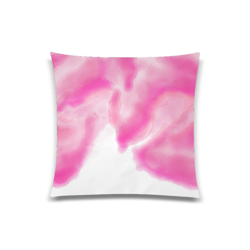 """pink watercolor abstract art Custom Zippered Pillow Case 20""""x20""""(Twin Sides)"""