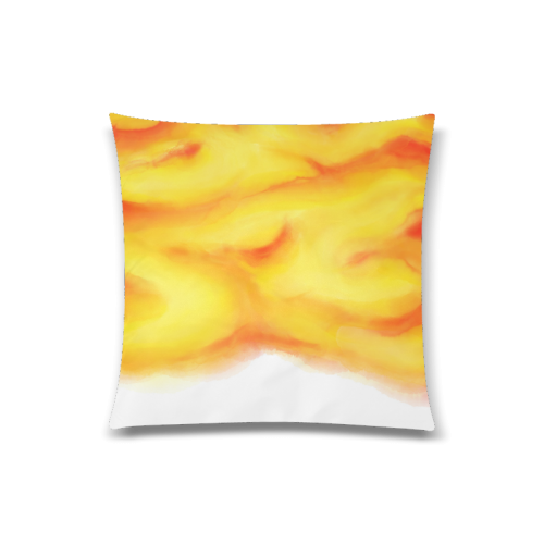 """yellow orange red water color abstract art Custom Zippered Pillow Case 20""""x20""""(Twin Sides)"""
