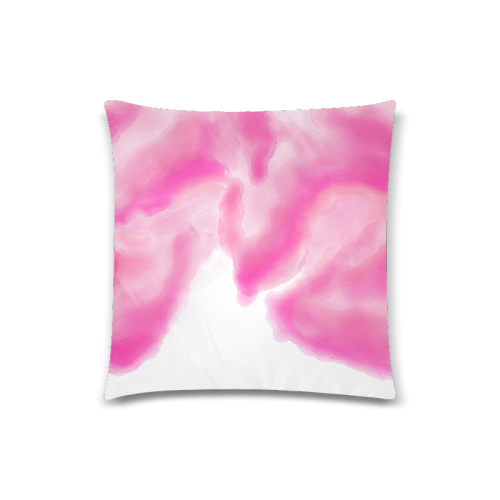 "pink watercolor abstract art Custom Zippered Pillow Case 18""x18""(Twin Sides)"