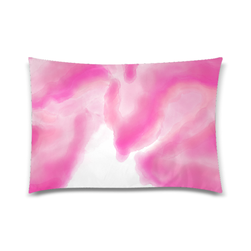 "pink watercolor abstract art Custom Zippered Pillow Case 20""x30""(Twin Sides)"