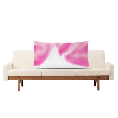 """pink watercolor abstract art Rectangle Pillow Case 20""""x36""""(Twin Sides)"""