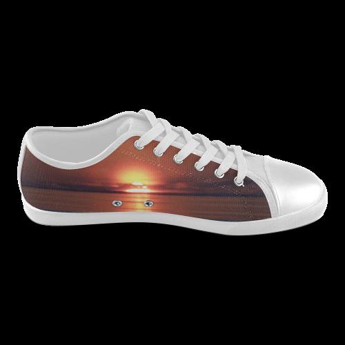 Shockwave Sunset Men's Canvas Shoes (Model 016)