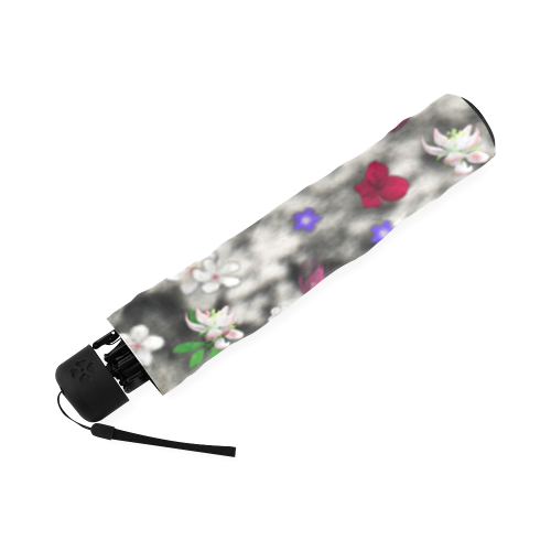 Freckles in Flowers II Black White Tuxedo Cat Foldable Umbrella (Model U01)