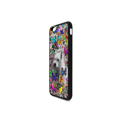 Violet in Butterflies Westie White Terrier Dog Rubber Case for iPhone 6/6s Plus