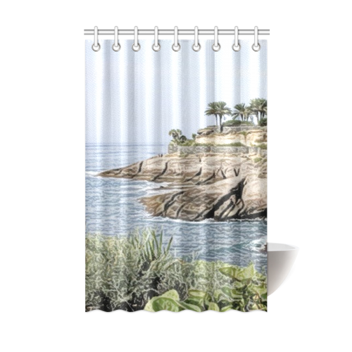 Travel Tenerife Painted Shower Curtain 48x72