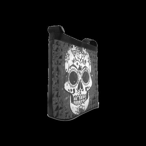 black and white Skull Crossbody Bags (Model 1613)