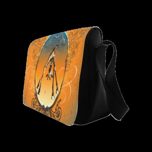 Funny giraffe Messenger Bag (Model 1628)