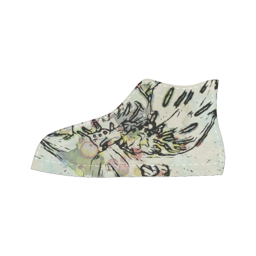 Floral Art Studio 3216 Women's Classic High Top Canvas Shoes (Model 017)