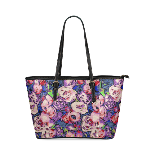 Floral Art Studio 28216Z Leather Tote Bag/Large (Model 1640)