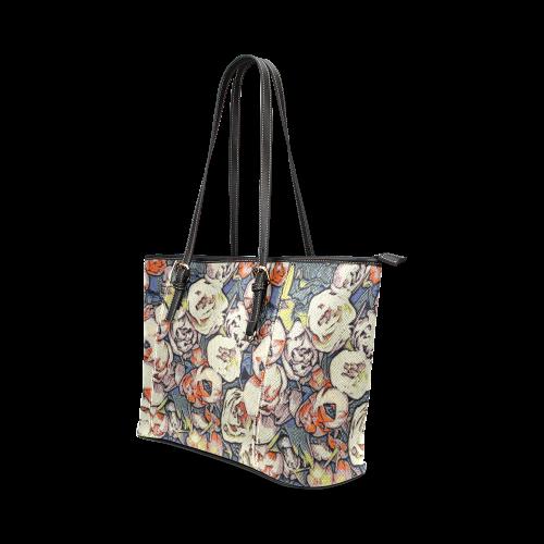 Floral Art Studio 28216B Leather Tote Bag/Large (Model 1640)