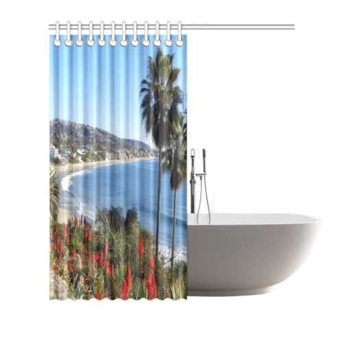 "Travel-Laguna Beach Shower Curtain 66""x72"""