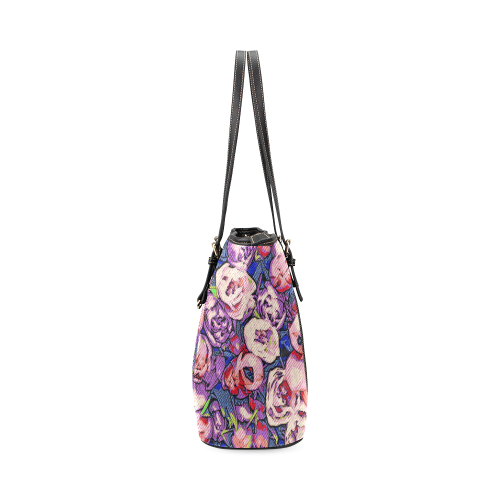 Floral Art Studio 28216Z Leather Tote Bag/Large (Model 1640)