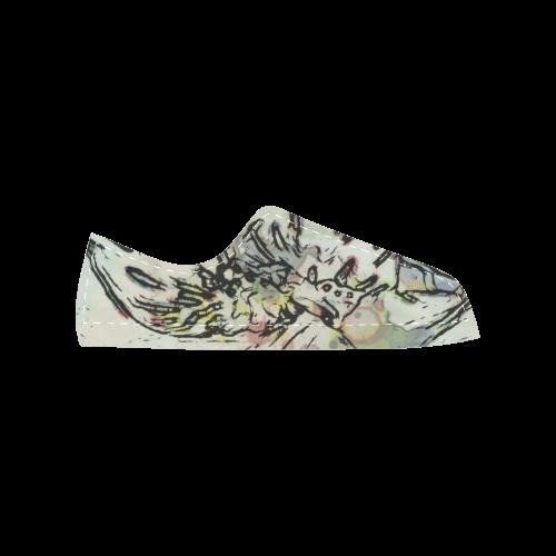 Floral Art Studio 3216 Women's Classic Canvas Shoes (Model 018)