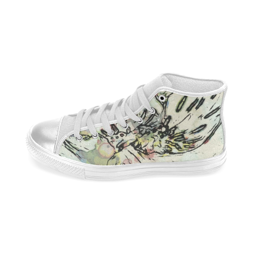 Floral Art Studio 3216 Women's Classic High Top Canvas Shoes (Model 017)