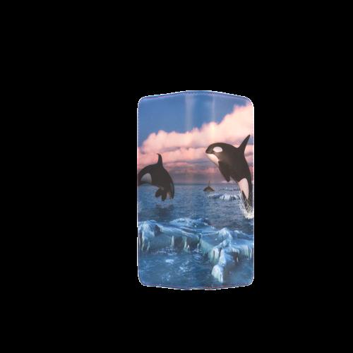 Killer Whales In The Arctic Ocean Women's Clutch Wallet (Model 1637)