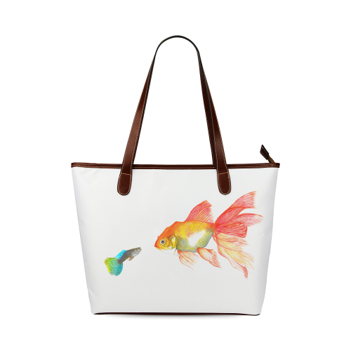 Big fish small fish Shoulder Tote Bag (Model 1646)