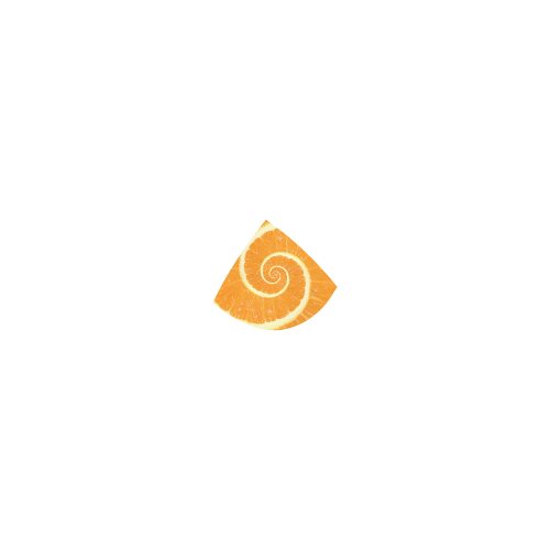 Citrus Orange Spiral Droste Custom Bikini Swimsuit