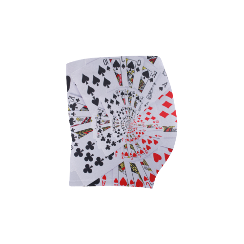 Royal Flush Poker Cards Spiral Droste Briseis Skinny Shorts (Model L04)