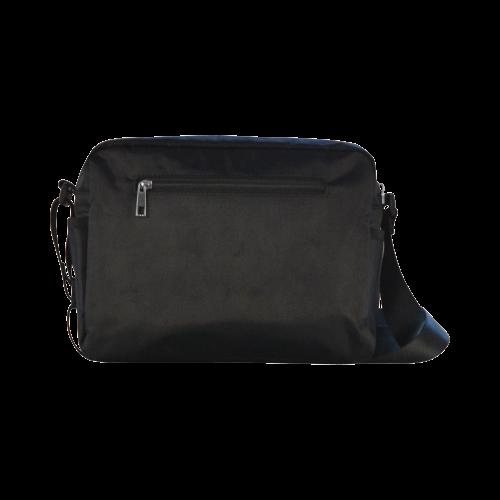 Green Bokeh Glitter Discs Classic Cross-body Nylon Bags (Model 1632)
