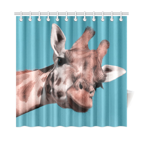 "giraffe Shower Curtain 72""x72"""