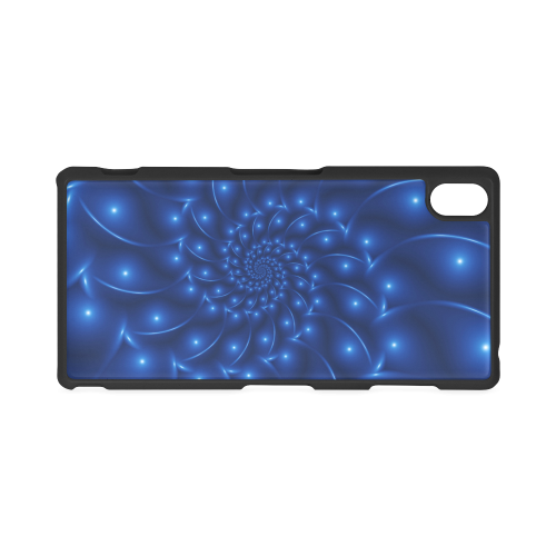 Glossy Blue Spiral Fractal Hard Case for Sony Xperia Z3
