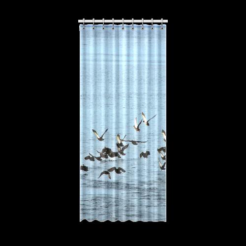 "Flock Off Window Curtain 52"" x 120""(One Piece)"