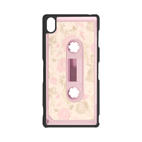 Retro Vintage Floral Pastel Pink Cassette Tape Hard Case for Sony Xperia Z3