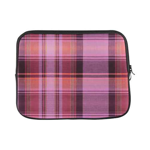 PINK PLAID Custom Laptop Sleeve 13""