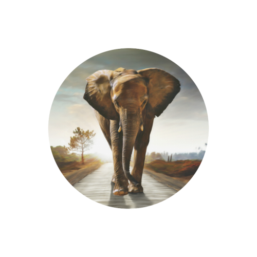 The Elephant Round Mousepad