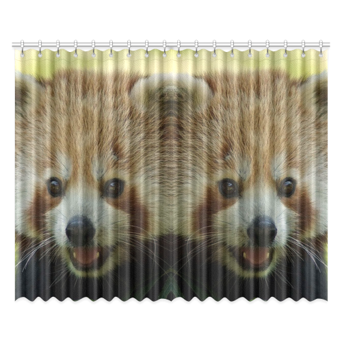 """red panda Window Curtain 52""""x84""""(Two Pieces)"""