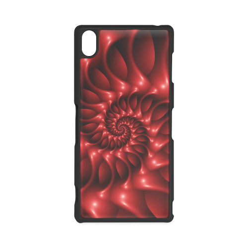 Glossy Red  Spiral Fractal Hard Case for Sony Xperia Z3
