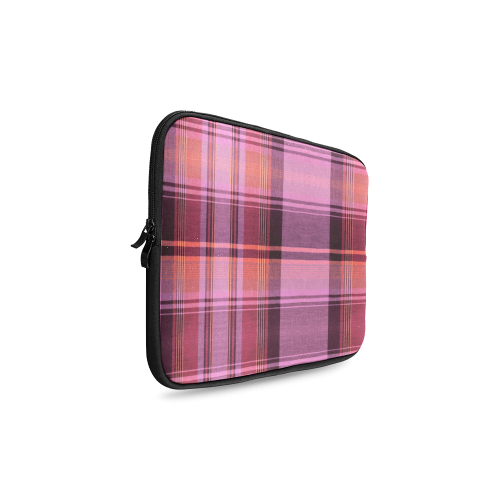 PINK PLAID Custom Laptop Sleeve 14''