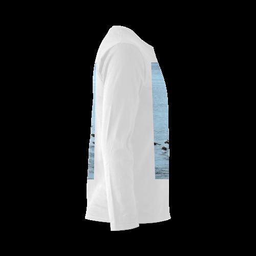 Flock Off Sunny Men's T-shirt (long-sleeve) (Model T08)