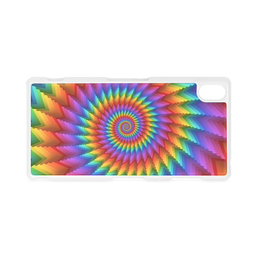 Psychedelic Rainbow Spiral Hard Case for Sony Xperia Z3