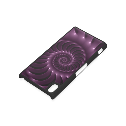 Glossy Plum Purple  Spiral Fractal Hard Case for Sony Xperia Z3