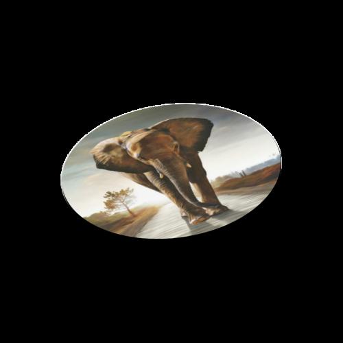 The Elephant Round Mousepad