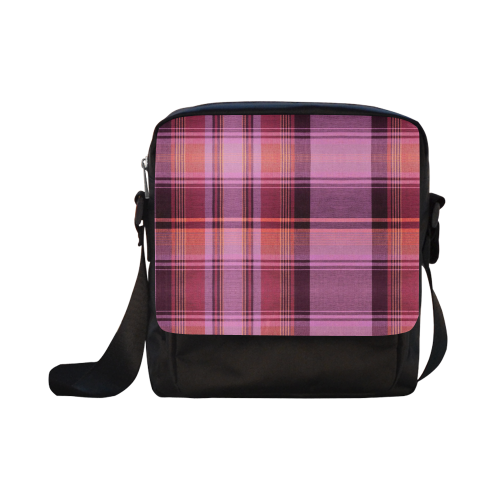 PINK PLAID Crossbody Nylon Bags (Model 1633)