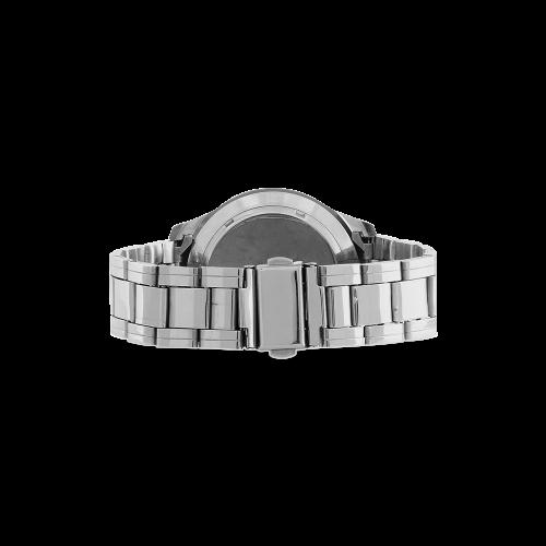 Flock Off Men's Stainless Steel Analog Watch(Model 108)