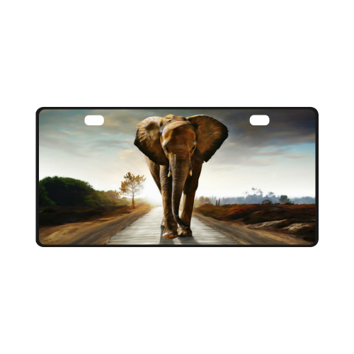 The Elephant License Plate