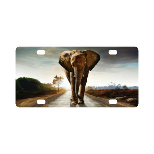 The Elephant Classic License Plate