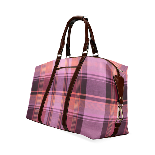 PINK PLAID Classic Travel Bag (Model 1643)