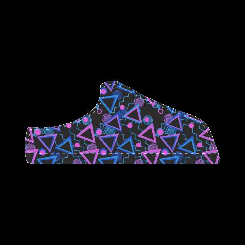Celebrating Triangles Women's Chukka Canvas Shoes (Model 003)
