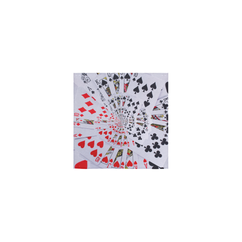 "Royal Flush Poker Cards Spiral Droste Square Towel 13""x13"""